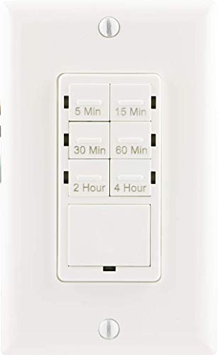 Maxxima Digital In-Wall 7 Day Programmable Timer Light Switch up to 18 On//Off Settings Adjusts for daylight savings time Wall Plate Included White 3 Way Compatible